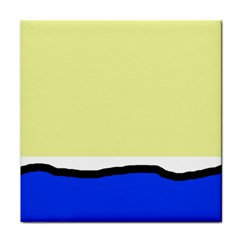 Yellow and blue simple design Face Towel