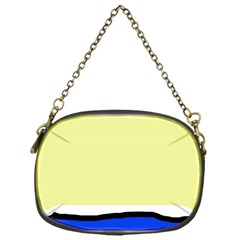 Yellow and blue simple design Chain Purses (One Side)