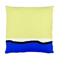 Yellow and blue simple design Standard Cushion Case (Two Sides)