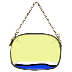Yellow and blue simple design Chain Purses (Two Sides)