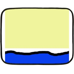 Yellow and blue simple design Double Sided Fleece Blanket (Mini)