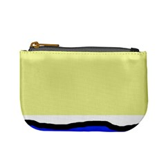 Yellow and blue simple design Mini Coin Purses