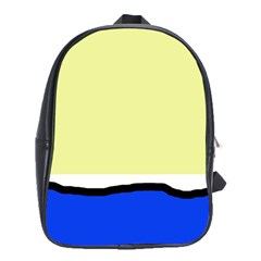 Yellow and blue simple design School Bags(Large)