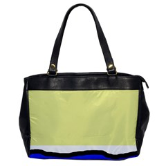 Yellow and blue simple design Office Handbags