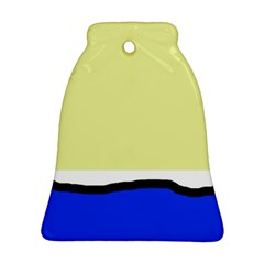 Yellow and blue simple design Bell Ornament (2 Sides)