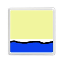 Yellow and blue simple design Memory Card Reader (Square)
