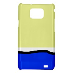 Yellow and blue simple design Samsung Galaxy S2 i9100 Hardshell Case