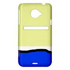 Yellow and blue simple design HTC Evo 4G LTE Hardshell Case