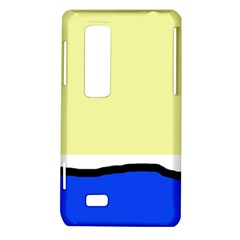Yellow and blue simple design LG Optimus Thrill 4G P925