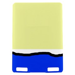 Yellow and blue simple design Kindle Touch 3G