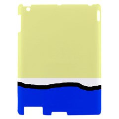 Yellow and blue simple design Apple iPad 2 Hardshell Case