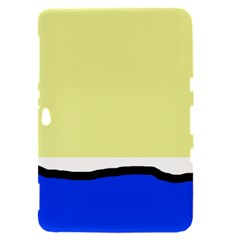 Yellow and blue simple design Samsung Galaxy Tab 8.9  P7300 Hardshell Case