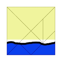 Yellow and blue simple design Acrylic Tangram Puzzle (6  x 6 )