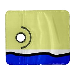Yellow and blue simple design Samsung Galaxy S  III Flip 360 Case