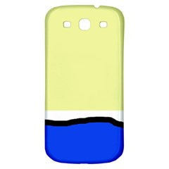 Yellow and blue simple design Samsung Galaxy S3 S III Classic Hardshell Back Case