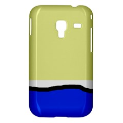 Yellow and blue simple design Samsung Galaxy Ace Plus S7500 Hardshell Case