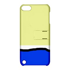 Yellow and blue simple design Apple iPod Touch 5 Hardshell Case with Stand