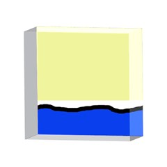 Yellow and blue simple design 4 x 4  Acrylic Photo Blocks