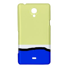 Yellow and blue simple design Sony Xperia T