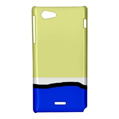 Yellow and blue simple design Sony Xperia J