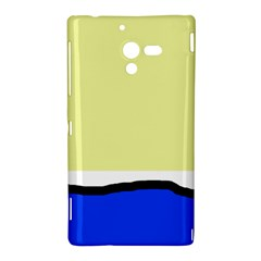 Yellow and blue simple design Sony Xperia ZL (L35H)