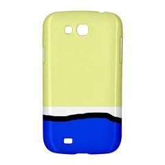 Yellow and blue simple design Samsung Galaxy Grand GT-I9128 Hardshell Case