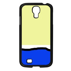 Yellow and blue simple design Samsung Galaxy S4 I9500/ I9505 Case (Black)