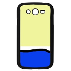 Yellow and blue simple design Samsung Galaxy Grand DUOS I9082 Case (Black)