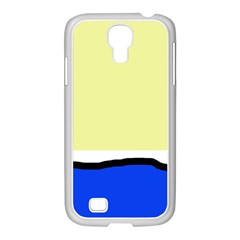 Yellow and blue simple design Samsung GALAXY S4 I9500/ I9505 Case (White)