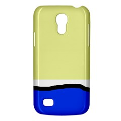 Yellow and blue simple design Galaxy S4 Mini
