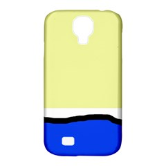 Yellow and blue simple design Samsung Galaxy S4 Classic Hardshell Case (PC+Silicone)
