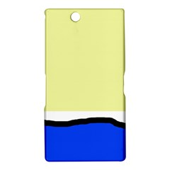 Yellow and blue simple design Sony Xperia Z Ultra