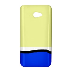 Yellow and blue simple design HTC Butterfly S/HTC 9060 Hardshell Case