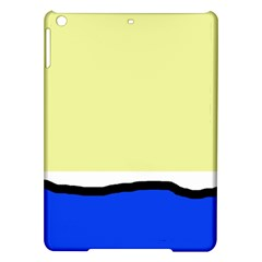 Yellow and blue simple design iPad Air Hardshell Cases