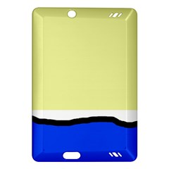 Yellow and blue simple design Amazon Kindle Fire HD (2013) Hardshell Case