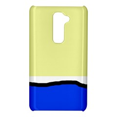Yellow and blue simple design LG G2