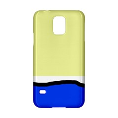 Yellow and blue simple design Samsung Galaxy S5 Hardshell Case