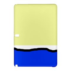 Yellow and blue simple design Samsung Galaxy Tab Pro 10.1 Hardshell Case