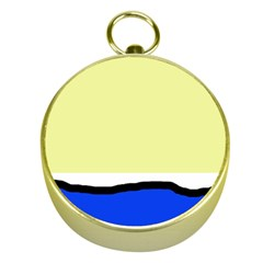 Yellow and blue simple design Gold Compasses
