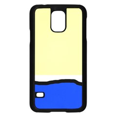 Yellow and blue simple design Samsung Galaxy S5 Case (Black)