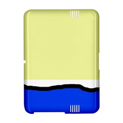 Yellow and blue simple design Amazon Kindle Fire (2012) Hardshell Case
