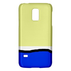 Yellow and blue simple design Galaxy S5 Mini