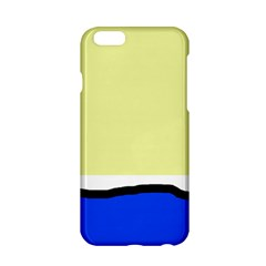 Yellow and blue simple design Apple iPhone 6/6S Hardshell Case