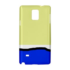 Yellow and blue simple design Samsung Galaxy Note 4 Hardshell Case