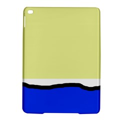 Yellow and blue simple design iPad Air 2 Hardshell Cases