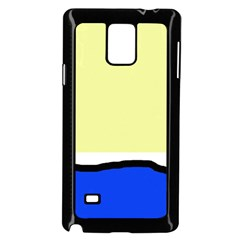 Yellow and blue simple design Samsung Galaxy Note 4 Case (Black)