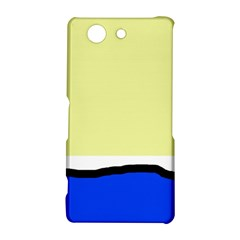 Yellow and blue simple design Sony Xperia Z3 Compact