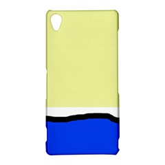Yellow and blue simple design Sony Xperia Z3