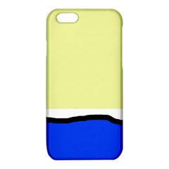 Yellow and blue simple design iPhone 6/6S TPU Case