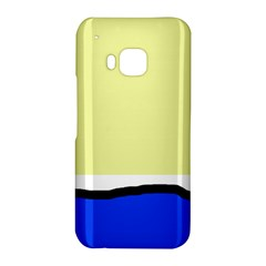 Yellow and blue simple design HTC One M9 Hardshell Case